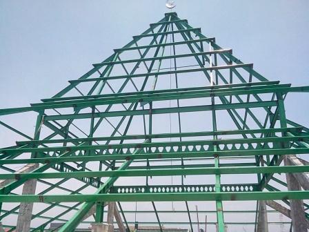 rangka atap masjid