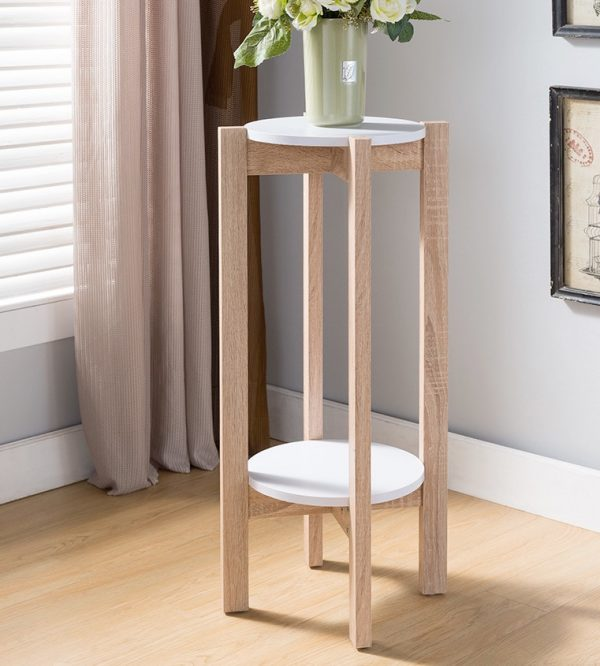 Model rak bunga dari kayu 2 tingkat