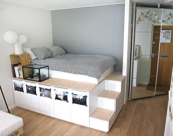 kamar tidur minimalis 3x4 dengan storage