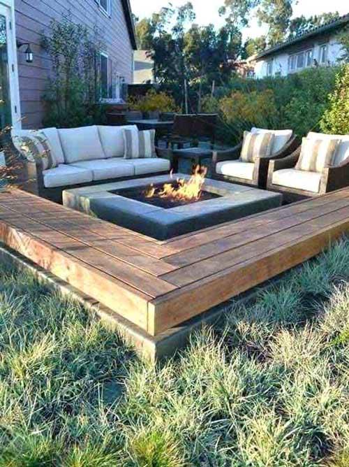 outdoor sunken living room design ideas