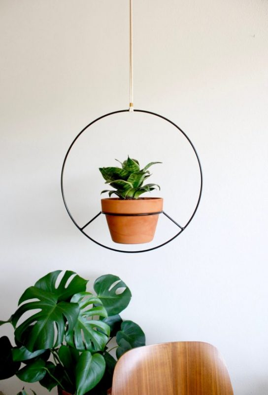 Desain rak gantung circular