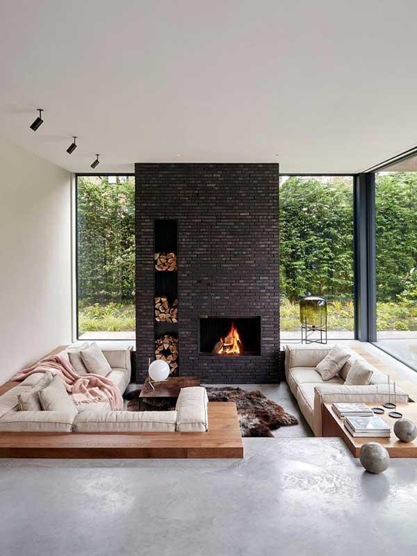 modern sunken living room