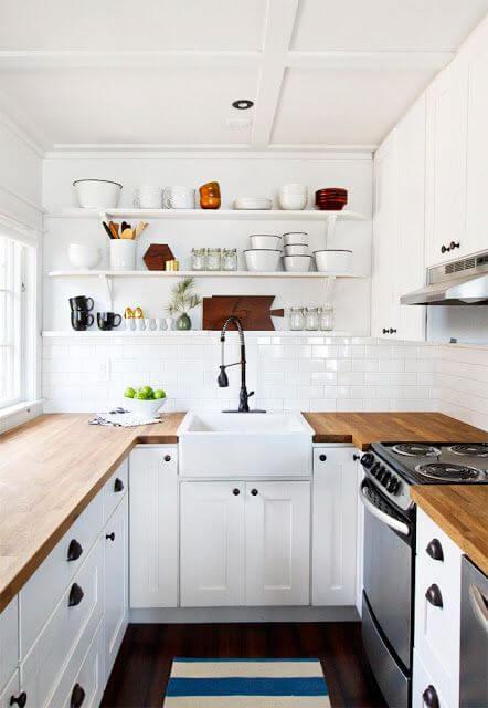 desain 1 dapur 2 x 1 putih