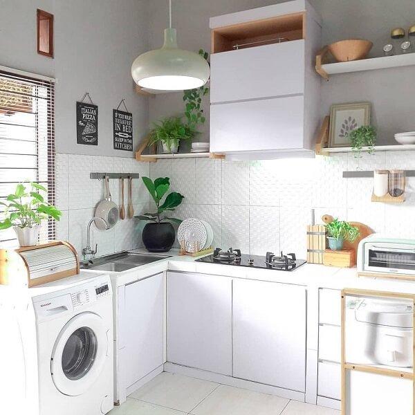 desain 1 dapur 2 x 1 sederhana
