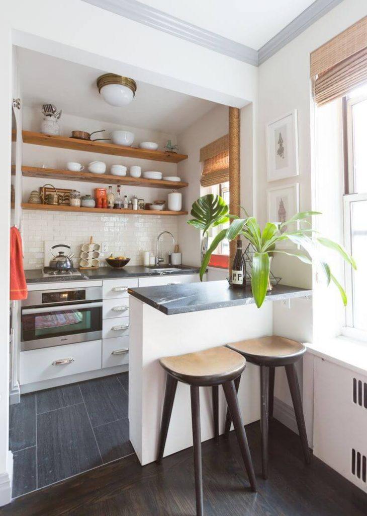 desain 3 dapur 2 x 1 putih