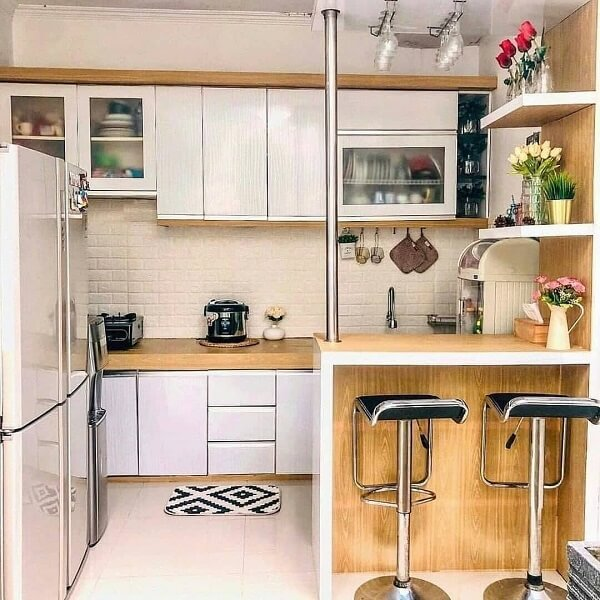 desain 3 dapur 2 x 1 sederhana