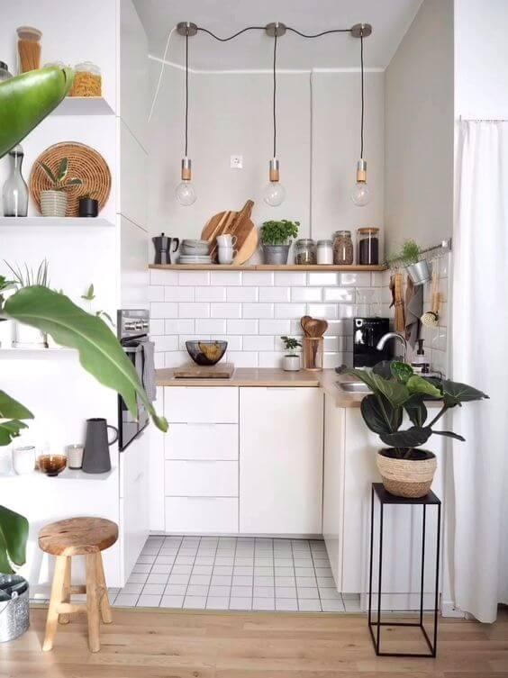 desain 4 dapur 2 x 1 putih