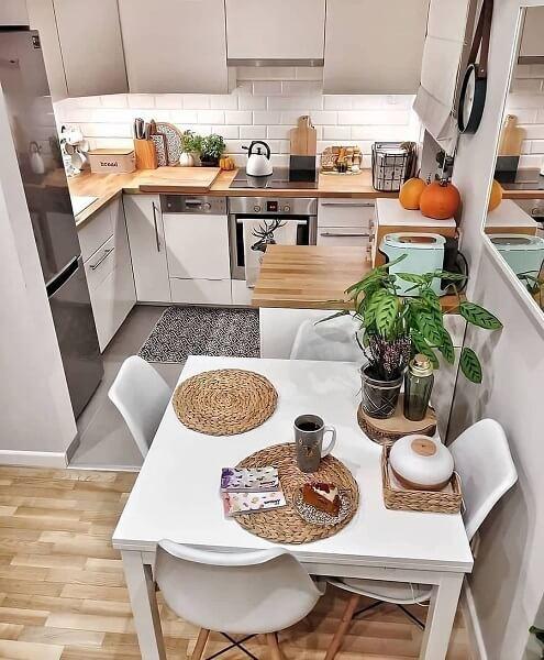 desain 4 dapur 2 x 1 sederhana
