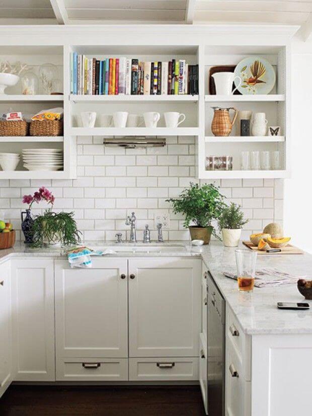 desain 5 dapur 2 x 1 putih