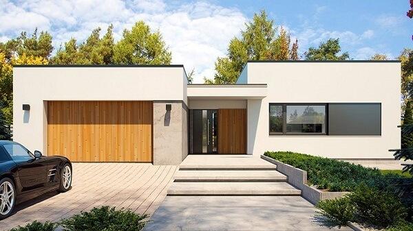 model flat roof 1 lantai minimalis