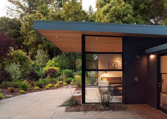 desain atap rumah datar 1 lantai miring