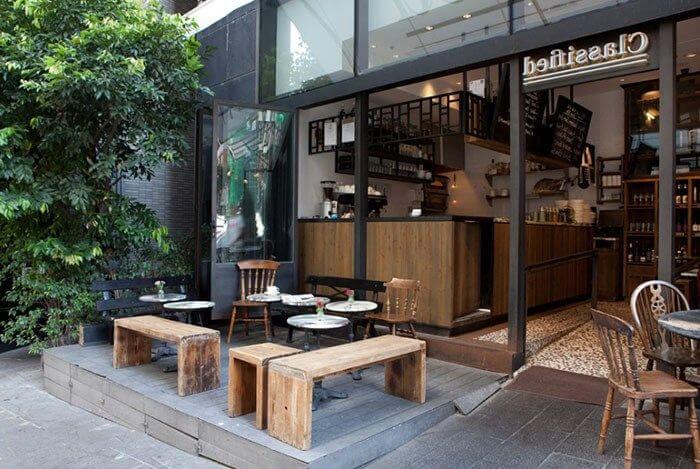 desain cafe outdoor modern