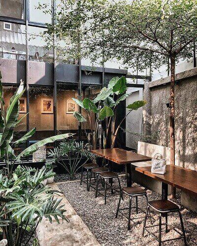 desain cafe outdoor simple