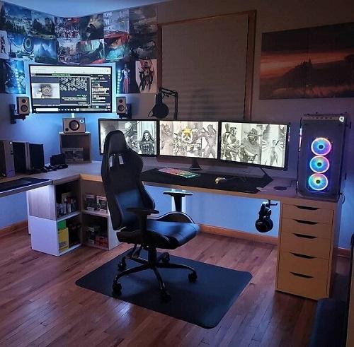 desain kamar gaming lengkap