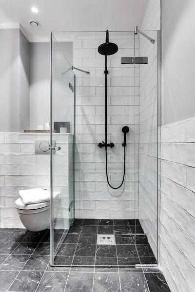 desain kamar mandi 1x1 monokrom