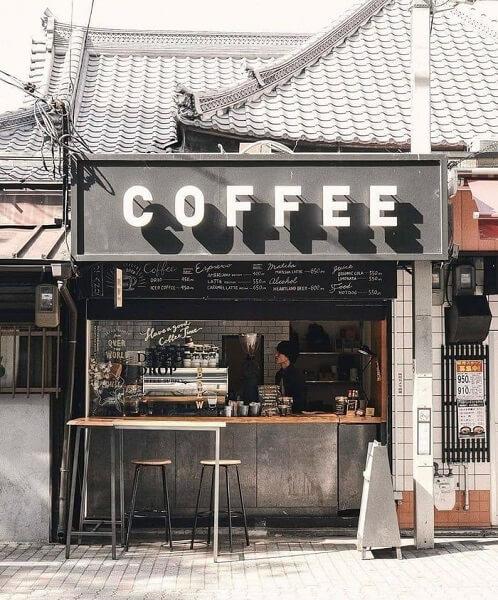 desain warung kopi pinggir jalan industrial