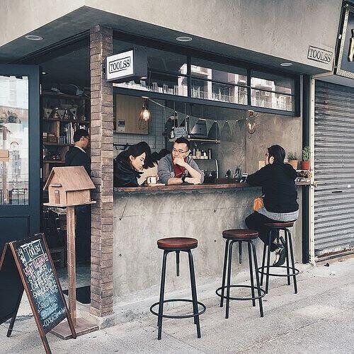 coffeeshop desain pagar tembok