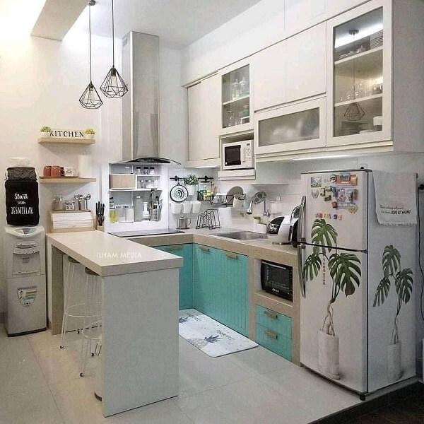 gambar 3 dapur ukuran 2x1 modern minimalis