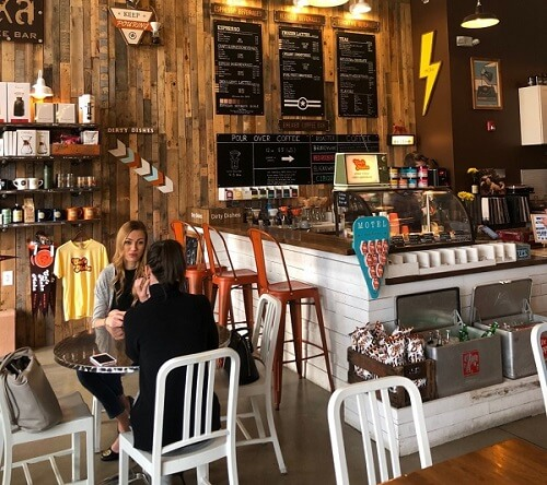 interior cafe ruko kayu
