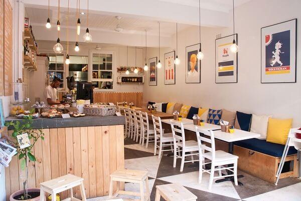 interior cafe ruko modern