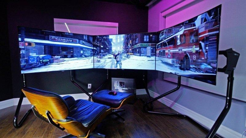 kamar gaming layar lebar