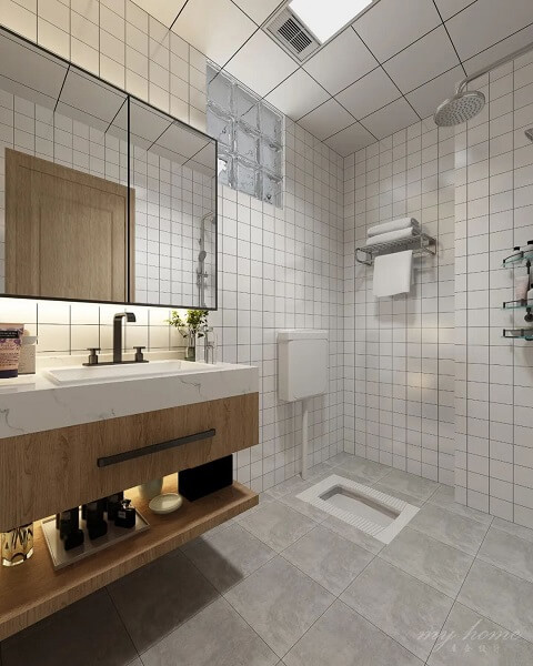 desain kamar mandi kloset jongkok minimalis