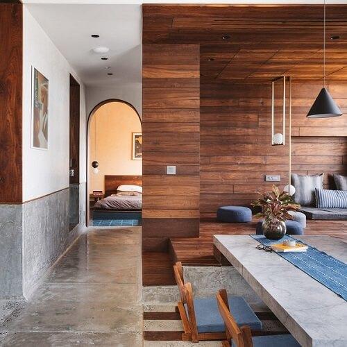 keramik dinding ruang tamu kayu