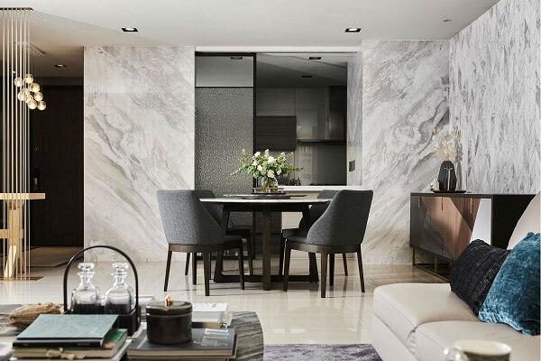 keramik dinding ruang tamu modern minimalis