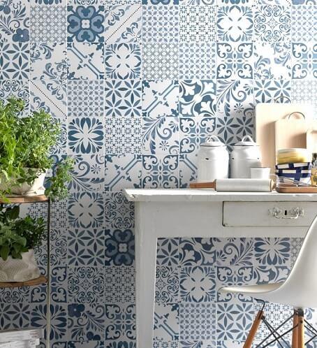 keramik motif mozaik
