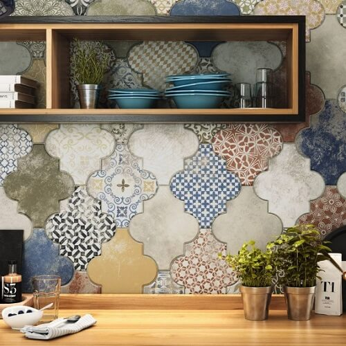 keramik dinding ruang tamu roman