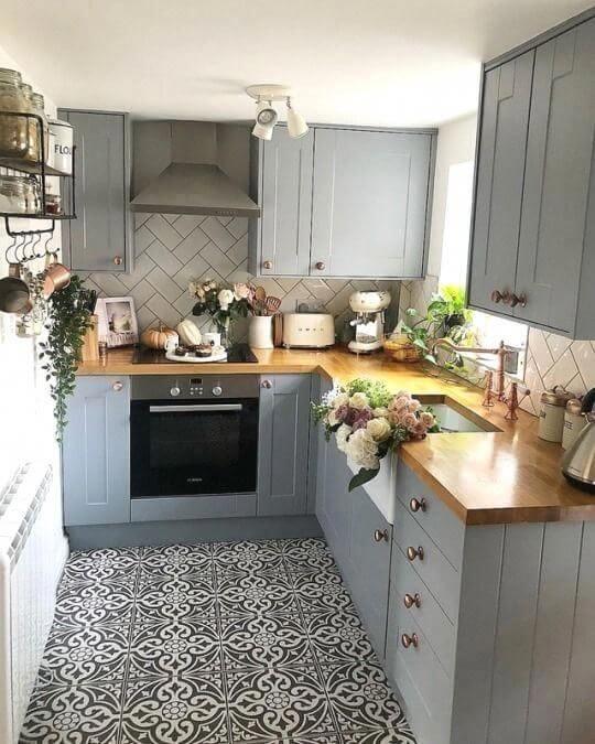 model 1 desain dapur minimalis 2x1 sederhana