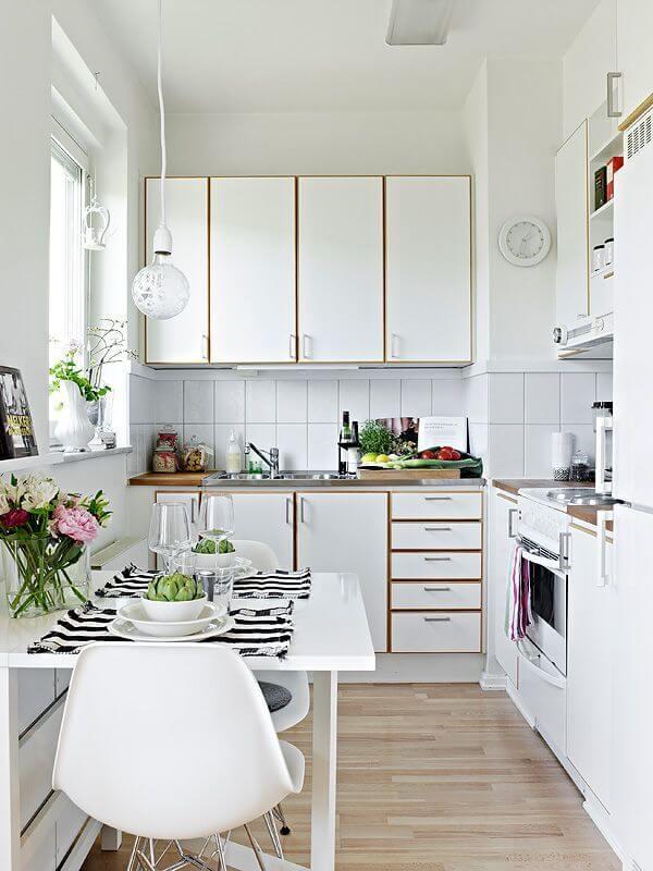 model 2 desain dapur minimalis 2x1 sederhana