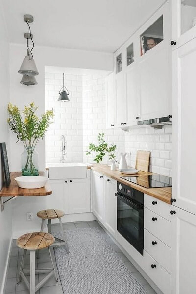 model 5 desain dapur minimalis 2x1 sederhana