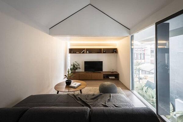 model 5 rumah atap miring samping