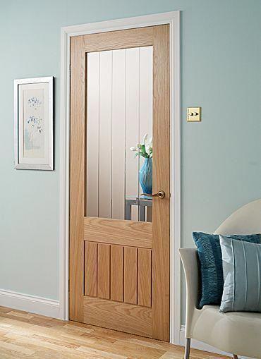 desain pintu tempat tidur kayu dan kaca