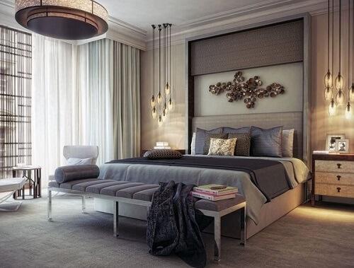 tempat tidur estetik elegan