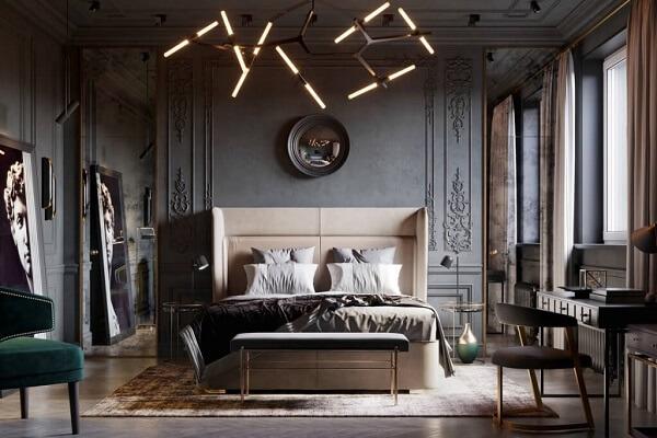 tempat tidur estetik yang menawan