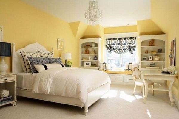 kombinasi warna ceilling dinding kuning