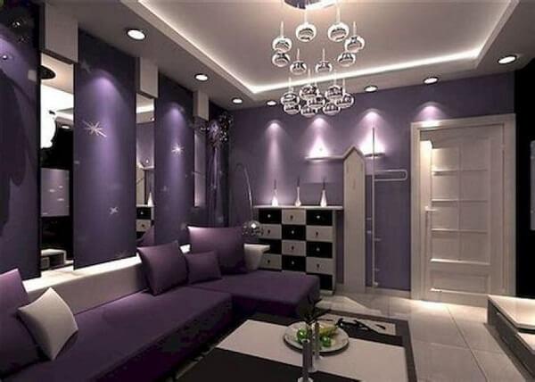 kombinasi warna ceilling dinding ungu
