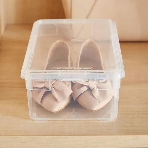 Kotak sepatu sepatu transparan