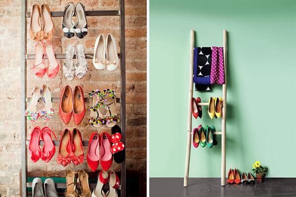 Model rak sepatu bentuk tangga