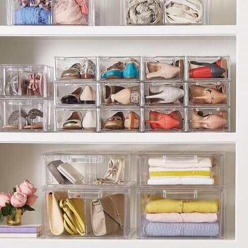 Kotak koleksi sepatu bahan kaca