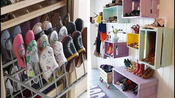 Rak flatshoes dengan laci