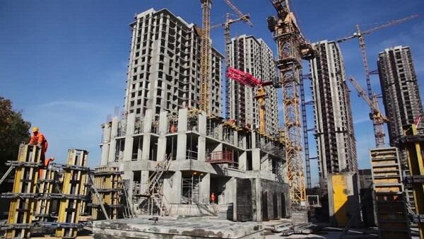 proyek konstruksi bangunan gedung