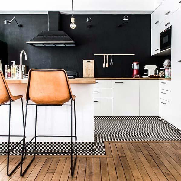 keramik lantai dapur kayu
