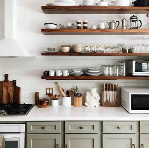 lemari dapur serbaguna Empat Baris