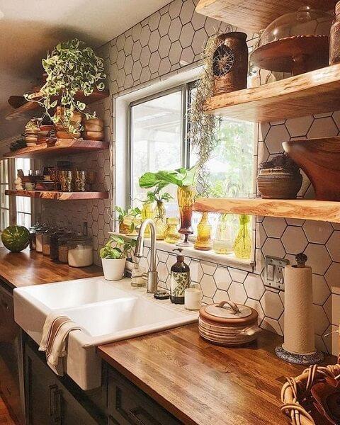 Ide rak dapur dari kayu jati