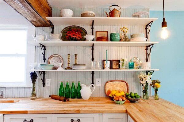 Model rak bumbu dapur minimalis berwarna putih
