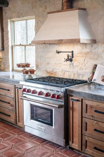 keramik lantai dapur bata merah