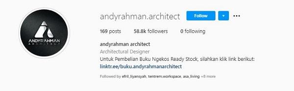 instagram andyrahman arsitek rumah minimalis